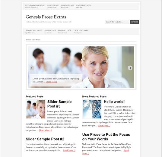 Genesis Prose Using Prose Plugin
