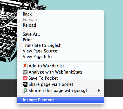 Using The Inspect Element Tool in Google Chrome To Edit CSS