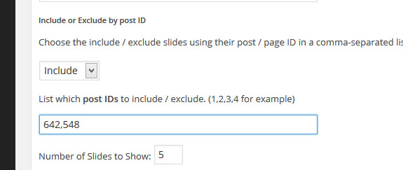 include exclude post page