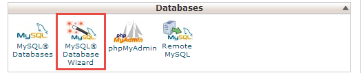 launch-mysql-database-wizard-from-cpanel