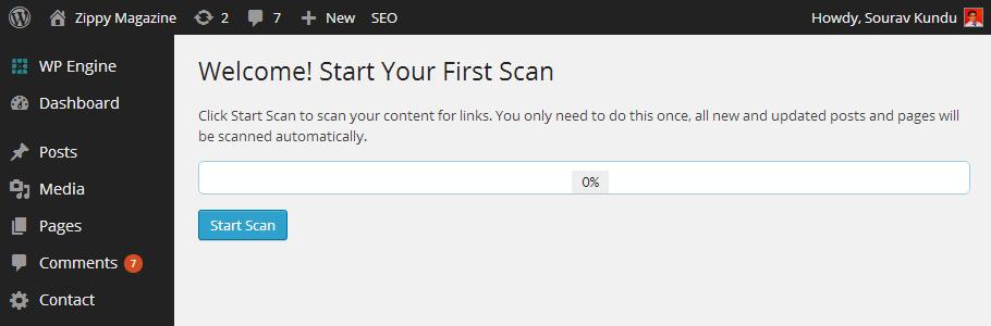 03-first-scan-linkpatrol-wordpress-plugin-wpkube