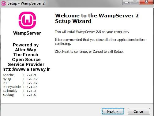 [SCM]actwin,0,0,0,0;Setup - WampServer 2 wampserver2 01/09/2014 , 22:48:36