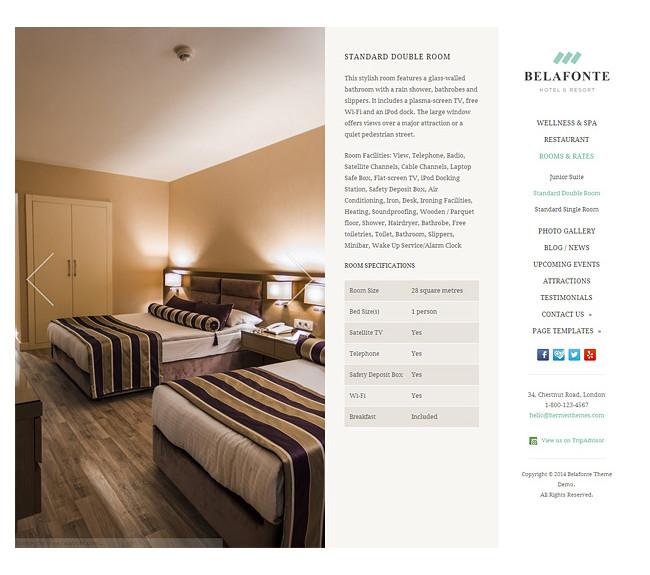 Belafonte - A Premium Hotel WordPress Theme