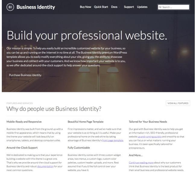 Business Identity - A Premium Corporate WordPress Theme From Automattic
