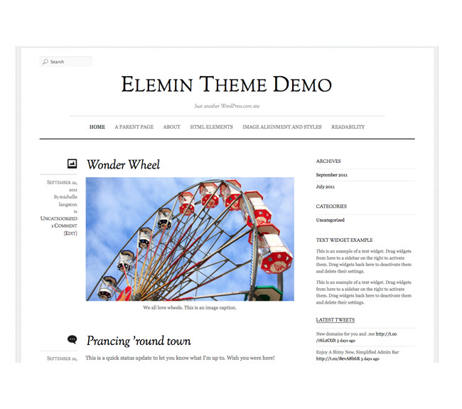 Elemin - A premium WordPress theme by Automattic