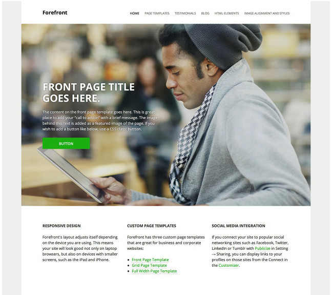 Forefront - A Premium Corporate/Business Theme From Automattic
