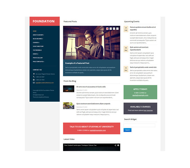 Foundation - A Premium Educational/ Institutional Theme From Academia Themes