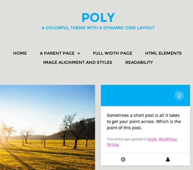 Poly - A premium WordPress theme from Automattic