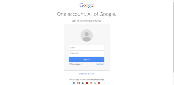 Sign up for Analytics using your Gmail account