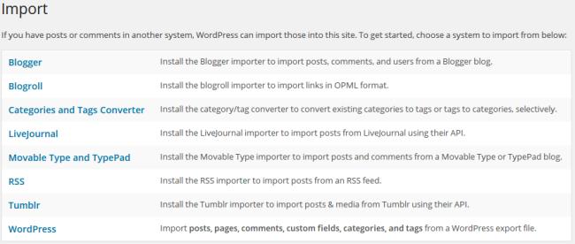 Blogger Import
