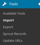 Tools and Import
