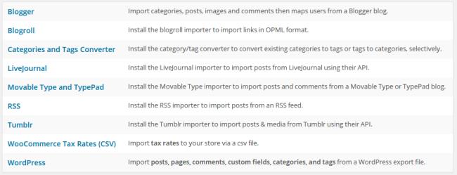WordPress Dummy Content