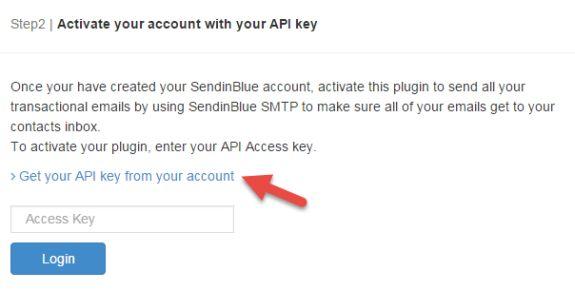 activate sendinblue wordpress plugin