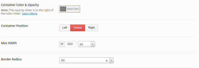 seedprod coming soon pro border radius and position settings