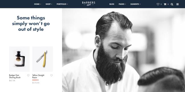 Barber Homepage