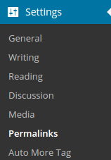 Settings Permalinks