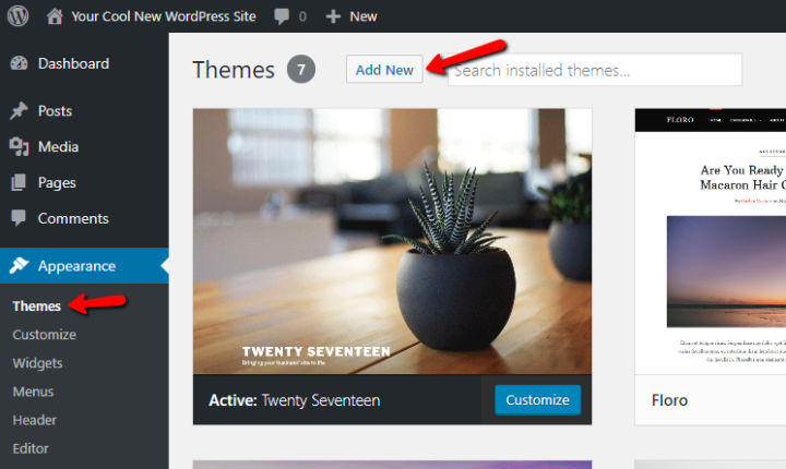 How to add new theme