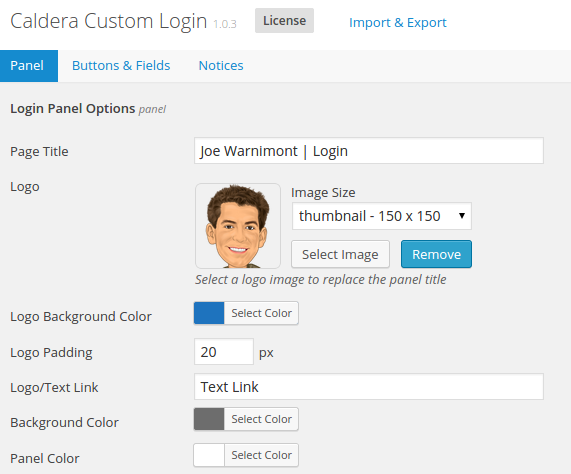 login_panel_options