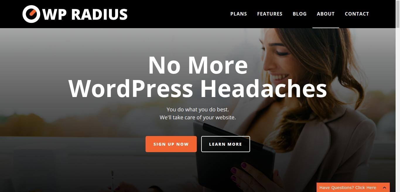 WP Radius - Unlimited WordPress Support and Maintenance