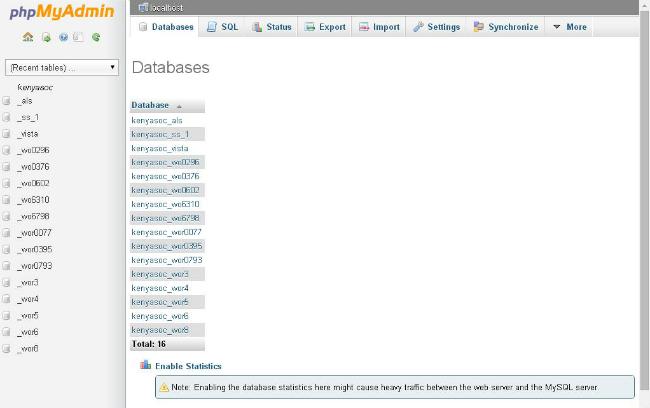 list-of-databases-in-phpmyadmin