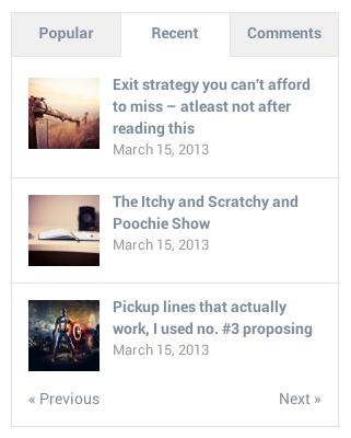 WP tab widget screenshot