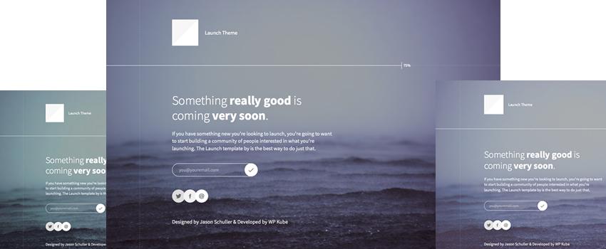 "Launch: A Free ""Coming Soon"" WordPress Theme"