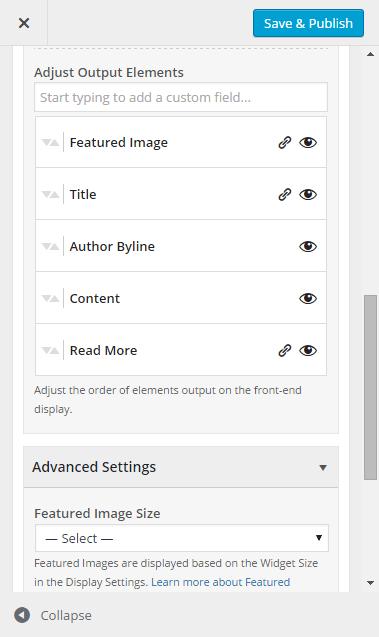 Adjusting output elements