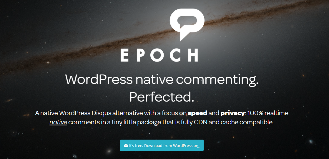 Epoch native WordPress comments