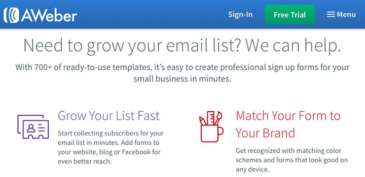 Email marketing platform roundup - AWeber