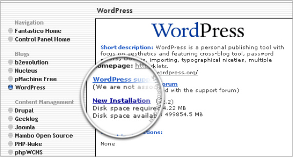 how-to-install-wordpress-fantastico-new-installation