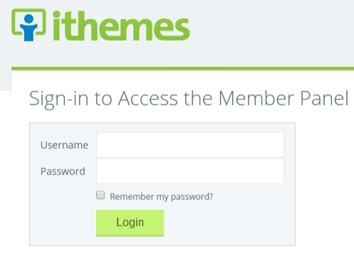 iThemes Stash sign-in