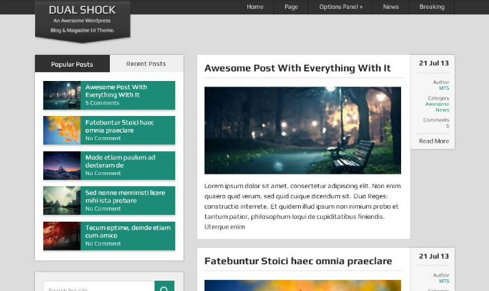 best-free-wordpress-themes-dualshock