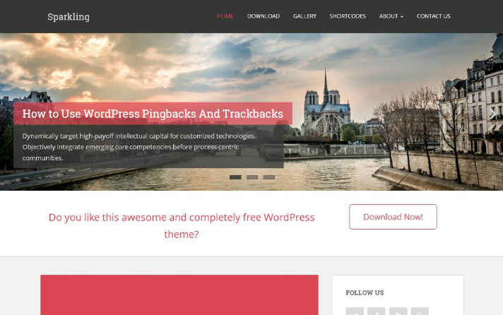 best-free-wordpress-themes-sparkling