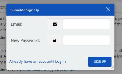 Register SumoMe