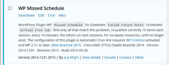 WP Missed Schedule Miss Setting