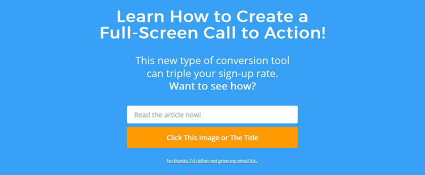 How to create a Welcome Mat for your Website