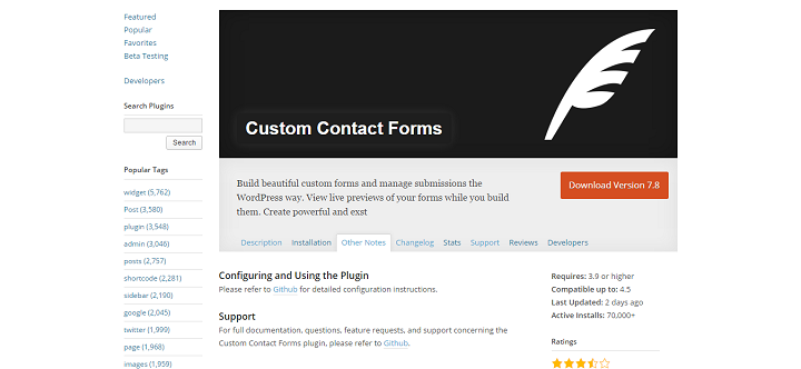 Custom Contact Forms - an Example of Implementations of the WP Rest Api