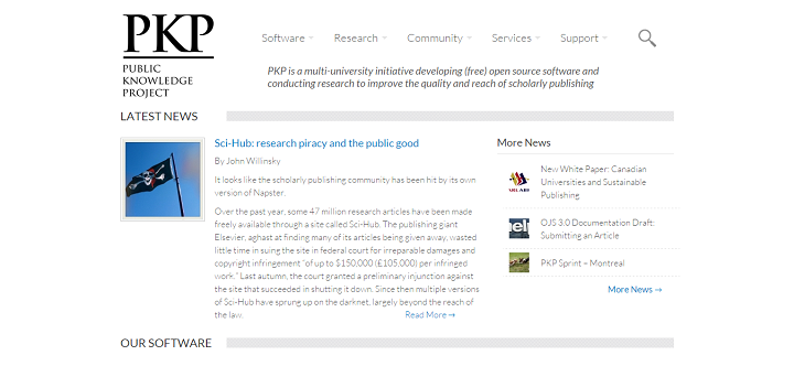 Public Knowledge Project - an Example of Implementations of WordPress Rest Api