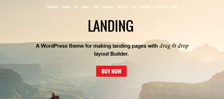 themify landing page theme