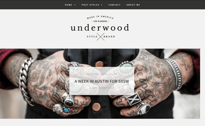 Free Themes - Underwood Lite