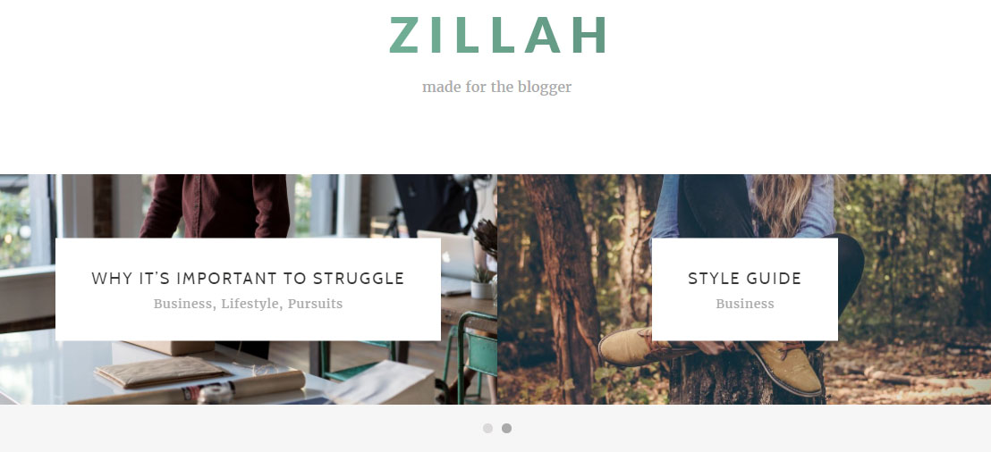 Zillah Review Content Slider