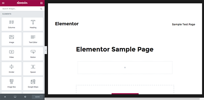 Elementor Blank Page
