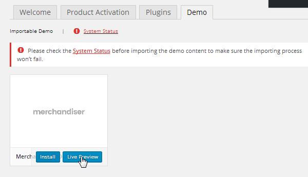 Merchandiser Demo Preview