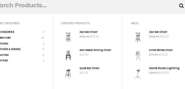 Merchandiser Demo Search