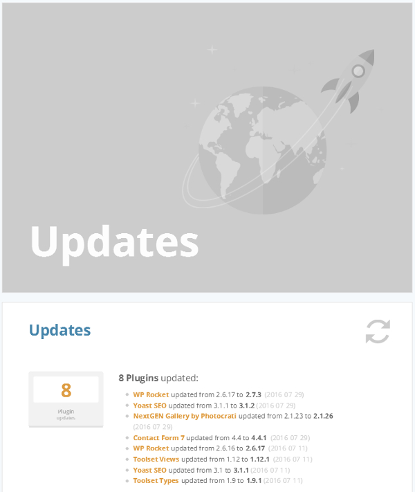 ManageWP Orion - Client Report - Cover Page
