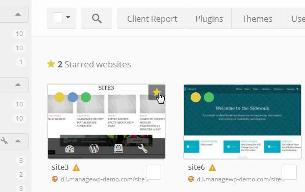 ManageWP Orion - Star Websites