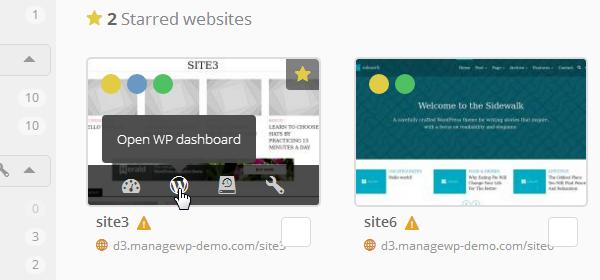 ManageWP Orion - WordPress Admin Dashboard