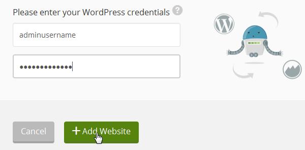 ManageWP Orion - WordPress Credentials