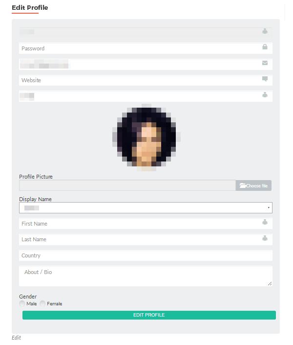 ProfilePress - Edit Profile Page
