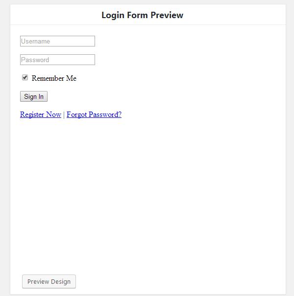 ProfilePress - Form Preview